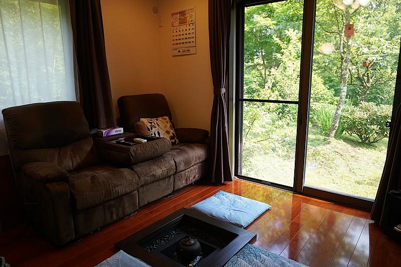 こちらはリビングスペース。窓際のソファは、気持ちよくお昼寝できそうです。