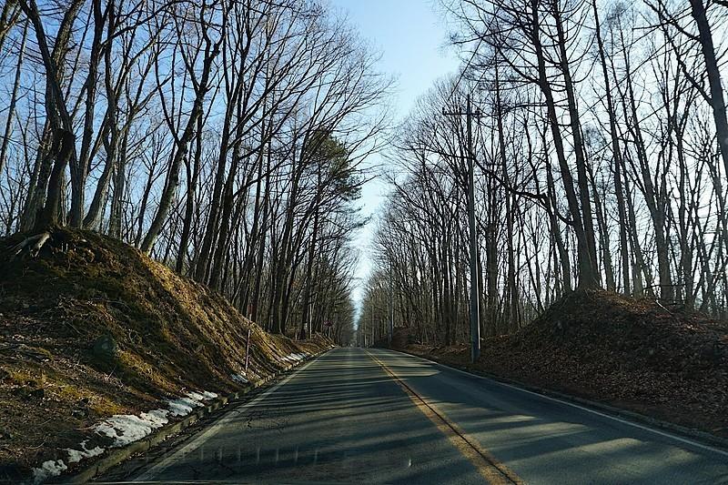 別荘地近くの、日本ロマンチック街道。名前に負けず、冬のドライブも楽しめる道。