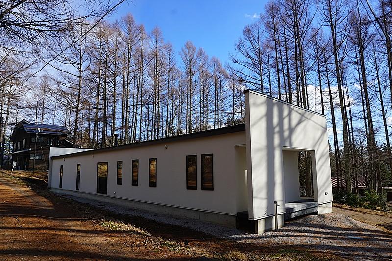北側外観を撮影しました。平屋の戸建は人気があります。