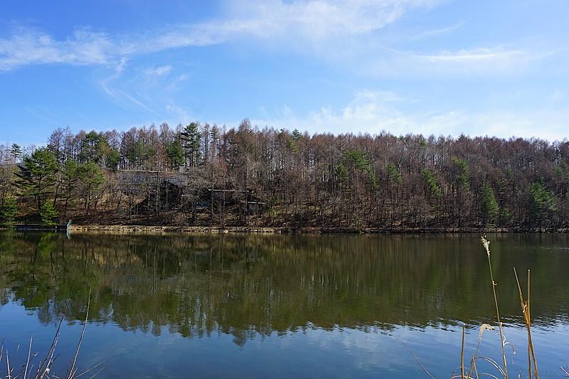 別荘地内の湖・美笹湖です。静かな湖面を見つめて過ごす穏やかな時間をどうぞ。