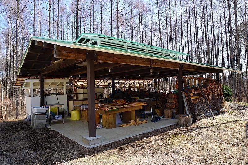 オーナー様お手製の、バーベキュー施設も完備。